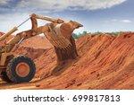 a huge bulldozer at weipa... | Shutterstock . vector #699817813