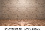empty room with brick wall and... | Shutterstock . vector #699818527
