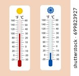 celsius and fahrenheit... | Shutterstock .eps vector #699823927