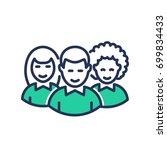 volunteers   modern   vector... | Shutterstock .eps vector #699834433
