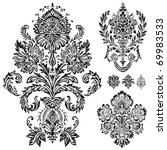 set of vector damask ornaments. ... | Shutterstock .eps vector #69983533
