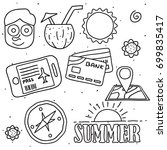 summer beach icon set | Shutterstock .eps vector #699835417