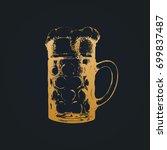 oktoberfest symbol. vintage... | Shutterstock .eps vector #699837487