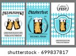 oktoberfest flyer. vector beer...