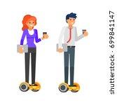 vector flat style illustration... | Shutterstock .eps vector #699841147