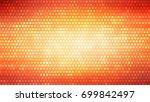 abstract orange football or... | Shutterstock . vector #699842497