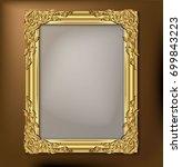 vintage frame retro decoration... | Shutterstock .eps vector #699843223