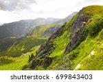 summer mountain landscape... | Shutterstock . vector #699843403
