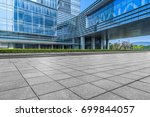 modern building and empty... | Shutterstock . vector #699844057