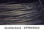 a wire steel texture background | Shutterstock . vector #699844063