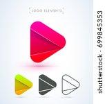 play logo icon. material design ...   Shutterstock .eps vector #699845353