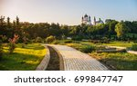 beautiful view on the church in ... | Shutterstock . vector #699847747