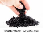 carbon pellets of water filters | Shutterstock . vector #699853453