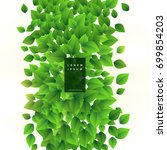 fresh green leaves vector... | Shutterstock .eps vector #699854203