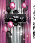 birthday invitation card with... | Shutterstock .eps vector #699863347
