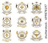 vintage heraldry design... | Shutterstock .eps vector #699878197
