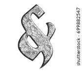 marbled metallic ampersand or... | Shutterstock . vector #699882547
