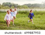 cheerful smiling elementary... | Shutterstock . vector #699887953