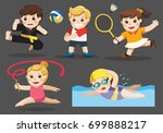 team sports for kids including... | Shutterstock .eps vector #699888217