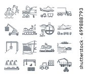 set of thin line icons loading...   Shutterstock .eps vector #699888793