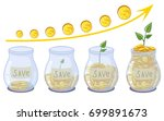 bank  jar  money  save money ... | Shutterstock .eps vector #699891673