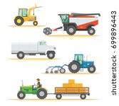 set farm machinery.... | Shutterstock .eps vector #699896443