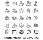 users line icons. male and... | Shutterstock .eps vector #699897223