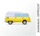 retro travel camper van.... | Shutterstock . vector #699901147