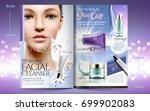 elegant skin care brochure... | Shutterstock .eps vector #699902083