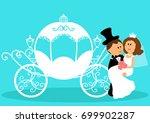 bride and groom. wedding... | Shutterstock .eps vector #699902287