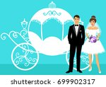 bride and groom. wedding... | Shutterstock .eps vector #699902317