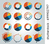 big set of round  circle chart  ... | Shutterstock .eps vector #699902797