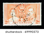 ascension islands   circa 1937  ... | Shutterstock . vector #69990373