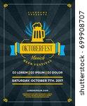 oktoberfest beer festival... | Shutterstock .eps vector #699908707