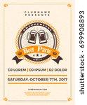 oktoberfest beer festival...   Shutterstock .eps vector #699908893