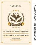 oktoberfest beer festival...   Shutterstock .eps vector #699908947