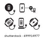 wireless charging for... | Shutterstock .eps vector #699914977