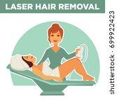laser hair removal promotional... | Shutterstock .eps vector #699922423