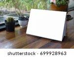 mock up label the blank menu...   Shutterstock . vector #699928963