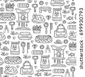 vector seamless pattern with... | Shutterstock .eps vector #699930793