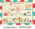 set of circus animals and... | Shutterstock .eps vector #699931543