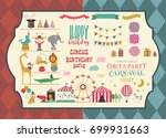 set of circus animals and... | Shutterstock .eps vector #699931663