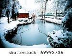 Winter Landscape Of A Frozen...