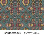 vector hand drawn ethnic... | Shutterstock .eps vector #699940813