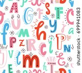 cute english hand written... | Shutterstock .eps vector #699941083