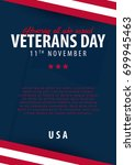 veterans day. honoring all who... | Shutterstock .eps vector #699945463
