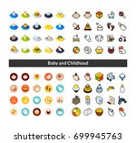set of icons in different style ... | Shutterstock .eps vector #699945763