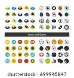 set of icons in different style ... | Shutterstock .eps vector #699945847