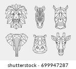Set Polygon Animals Of Africa....