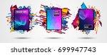 futuristic frame art design... | Shutterstock .eps vector #699947743